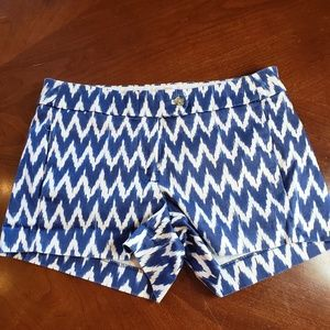 Blur and white shorts J.Crew size 0